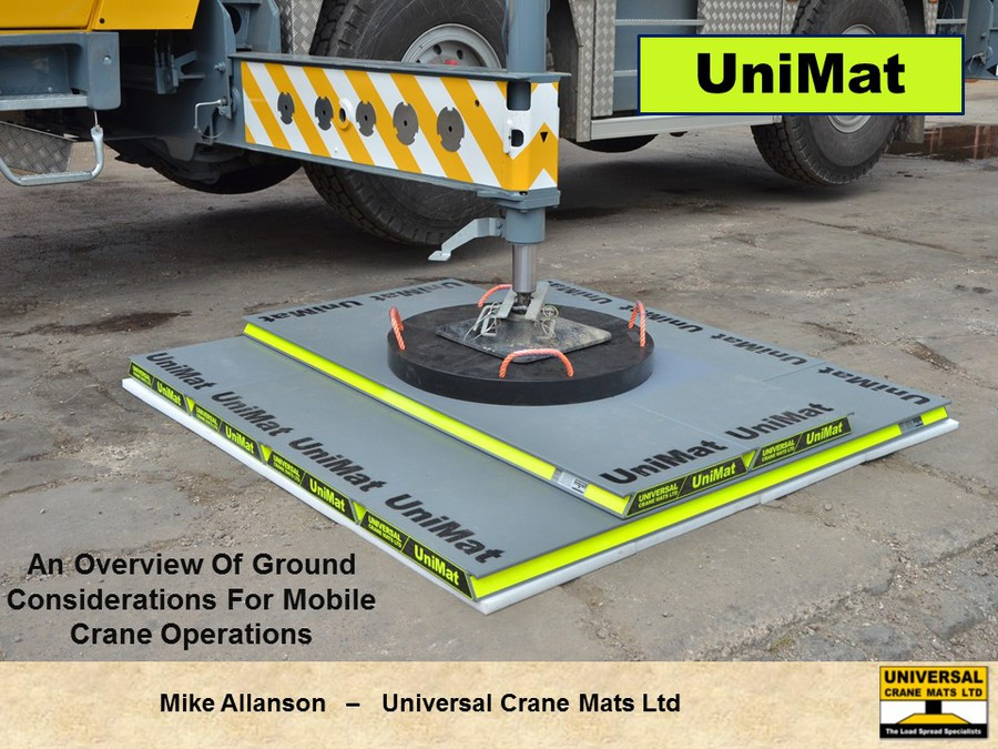 How To Calculate Size Of Mat For Outrigger Loads 2015 Crw